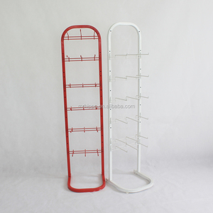 Metal carousel flip flops / belt hook display rack stands/food display