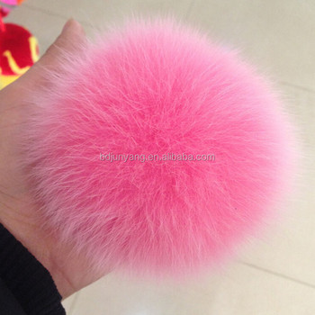 fashion multi color genuine rabbit/rex rabbit/fox/raccoon/mink fur pom pom balls key chain