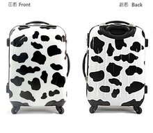2012 Fashionable&Colorful ABS/PC cow Print Luggage