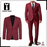 Tailor made your own style wine color 100% wool business suits for men