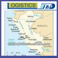 Ocean freight rates shipping service forwarder from China to Callao Peru