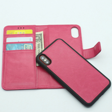 China Manufacturer Newest Removable Leather Case with Multi-function Wallet for iPhone X
