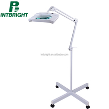 Rectangular Magnifying Dental Lamp With Rolling Floor Stand LED Light Medical Dental Equipments
