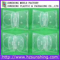 Plastic Cd Dvd Manufacturer,multi clear 25mm dvd case for 7-10 discs