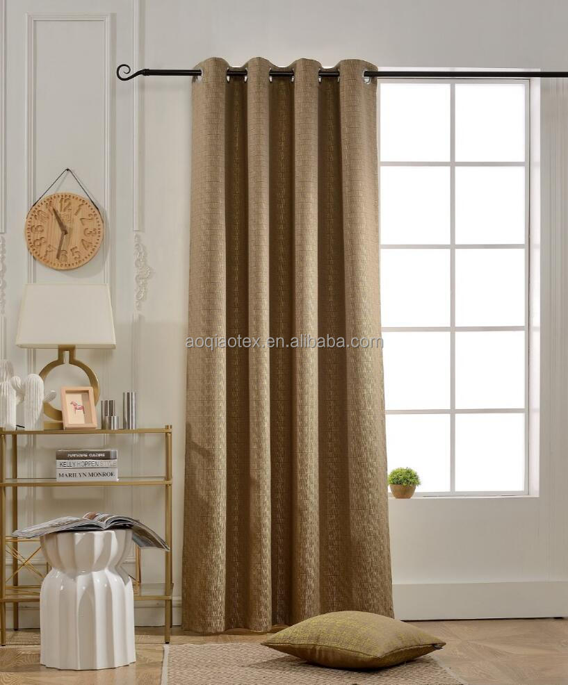 1522-15 BOKO Jacquard Blackout Grommet Modern Design Window Panel Curtains, Curtains for Bedroom, Curtains for Livingroom
