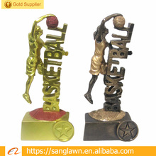 Resin Basketball Figures Customized Colors Words Trophy