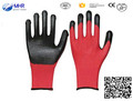 MHR polyester palm coated nitrile light work glove