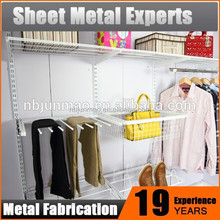 Bedroom folding fabric portable wardrobe with metal frame big size,wire closet shelving