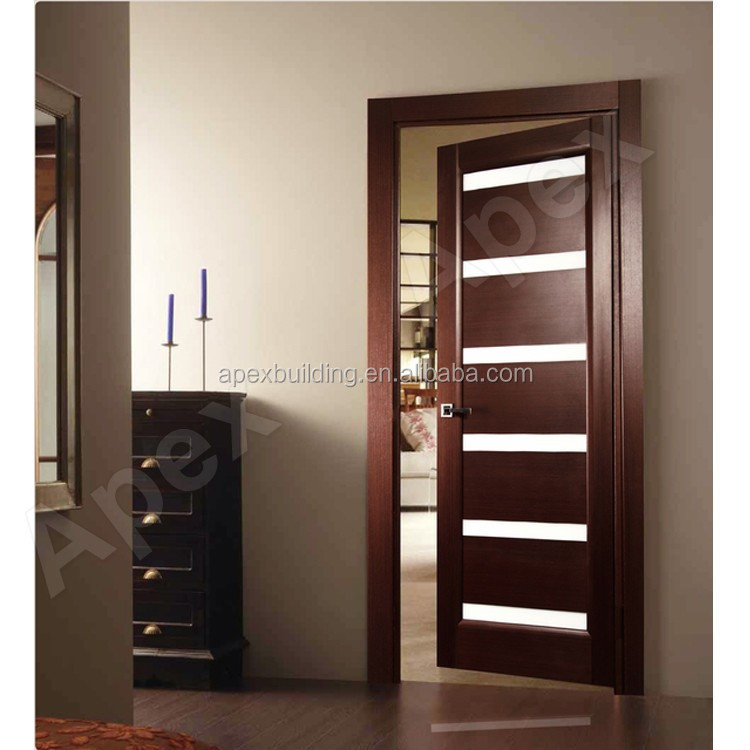 Elegant Walnut Color Frosted Glass Shower Doors Bathroom Door Bi Fold
