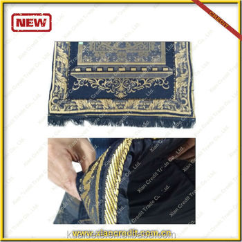 Padded prayer rug mat with memory foam at 2cm thickness for Islams ramadan