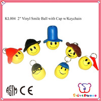 New design ICTI audited custom design promotional smiling face soft pvc keychain
