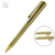 New arrival deluxe golden clip pen engraved metal twist ball pen with cap for promotional gift