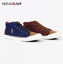 Custom Casual high top Canvas english style men shoes