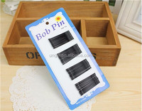 2016 new fashion cheap Pure black word folder cross clamping clip type U hair clip for women