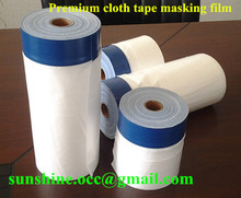 premium professional painter's plastic film with adhesive tape