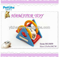New 2016 online shopping dog cat pet China supplier colorful wooden hamster toys