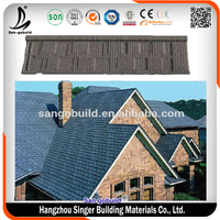 Construction Material Double Roman Lightweight Stone Coated Metal Roof Tile Price