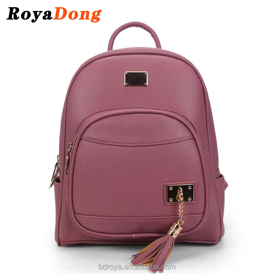 Royadong 2017 New Occidental Style Fashion Leisure Multi-function Pu Leather Young Women <strong>Backpacks</strong>