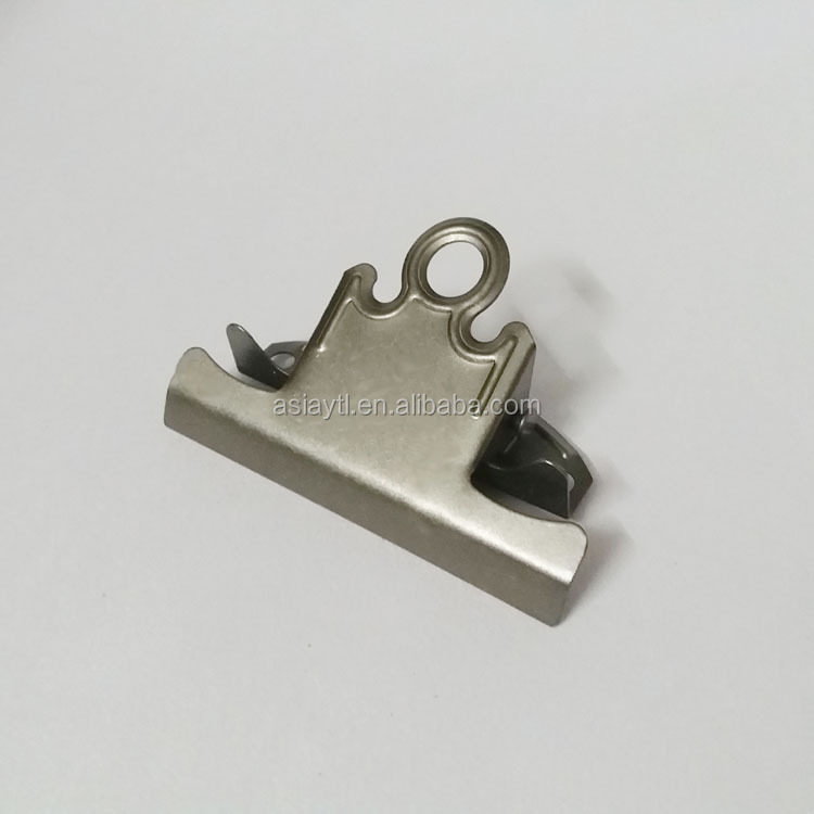 matte silver antique silver metal exhibition clip for fastening files and manuals