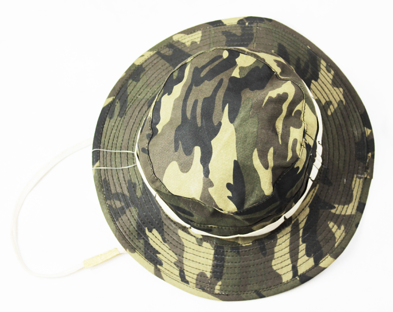 Military Camouflage Boonie Bush Safari Outdoor Fishing Hiking Hunting Boating Snap Brim Hat Sun Cap