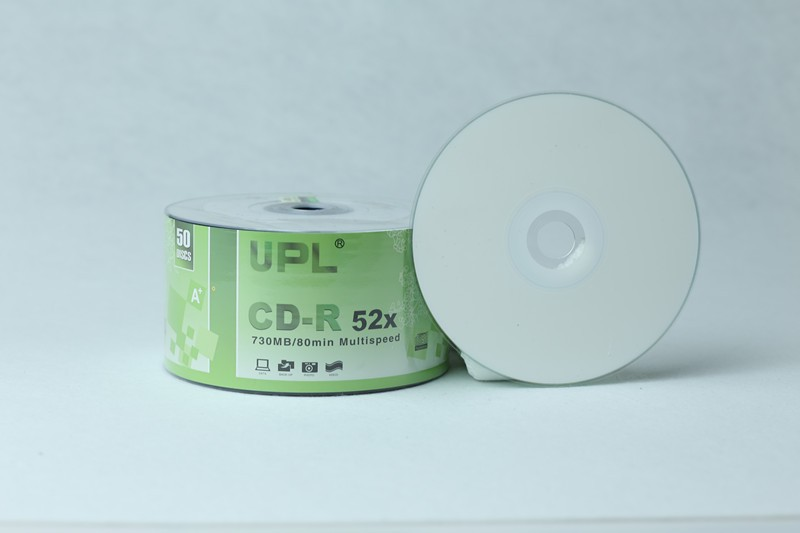 UPL full face blank cd-r printable grade a/blank white inkjet printable disk/wholesale blank print cd/dvd