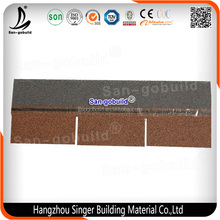 Lightweight Roofing Material Asphalt Roofing Shingles/Flat Roof Tiles for Civil Building