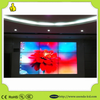 500 cd/m2 brightness 55 inch super narrow bezel 3.5mm LCD wall oled xxx video wall screen p10