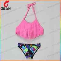 Hot sale girls two piece swimwear customized bikinis