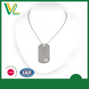 Tailor made New Zinc Alloy Laser engraved Metal Craft Silver Chain Pendant Love dog tag for women