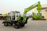 XINIU excavators with dozer blade mini wheel excavators for sale in Uzebekhstan