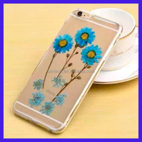 2016 Girl Romantic True Flower Stylish Clear Hard PC Case for iPhone 6 /6S for iPhone 6 Plus /6s Plus Real flower