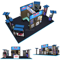 islands exhibition stand system, portable clothing exhibition booth design