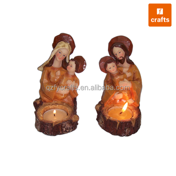 Resin church decoration candle holder church souvenirs