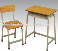 Popular Cheap Price Manufacture Laminated Plywood Steel Tube School Desk and Chair