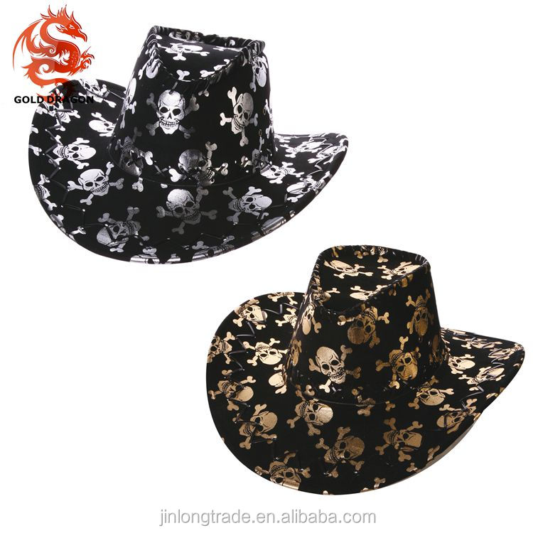 Wholesale Pirate Skull Cowboy Hat Cheap For Party