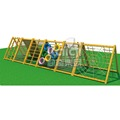 Physical training multifunction climbing wood outdoor playground equipment