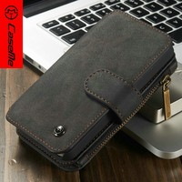 New arrival PU leather Flip Detachable Wallet Case with Credit Card Slot Holder for Apple iPhone 5/5s SE case