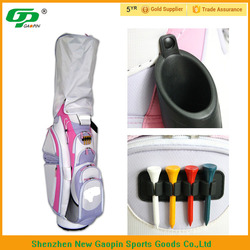 color mixing embroidery logo pink nylon golf bag