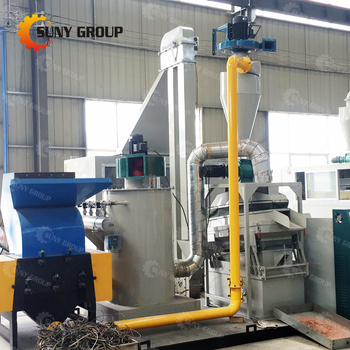 waste electronics cable wire recycling plant