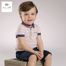 DB3780 dave bella summer baby boy polo t-shirt boys cotton top kids tee baby soft tee