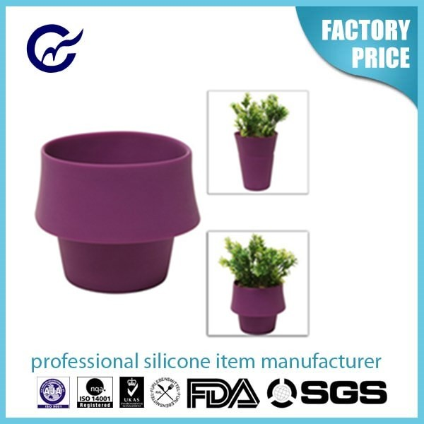 High Quality Eco-friendly Customized Silicone Bulk Flower Pot