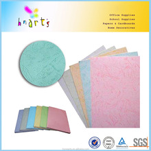embossed color cardboard, leather grain paper for binding