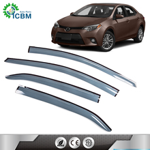 Side wind vent sun visors outer spare parts visor window deflector rain guard for COROLLA 14-15
