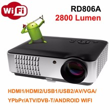 Cheap RD806A Android Wifi TV Projector Best Value Video Projector for laptop pc computer
