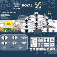High Quality Non Stick 23Pcs Cookware Set Cooking Pot Stainless Steel