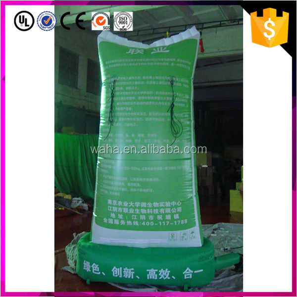 promotion advertising giant inflatable fertilizer bag replicas