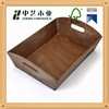 Wholesale Factory Supply top quality carved Wooden serving tray with handles for hotel