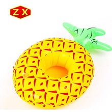Novelty design inflatable pineapple party drink/cup holder float