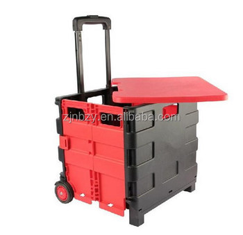 Folding trolley crate