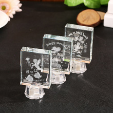 Custom Blank K9 Crystal Glass Cube for Engraving wholesale alibaba